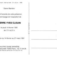 Galerie Diane Manière, Paris (27/03 - 14/02/1991)<br />
