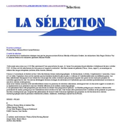 Sélection | Les Inattendus.pdf