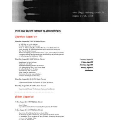 HOME | San Diego Underground | 2017 SDUFF Schedule.pdf