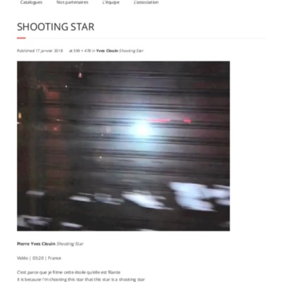 Shooting Star | Traverse Vidéo Édition 2018.pdf