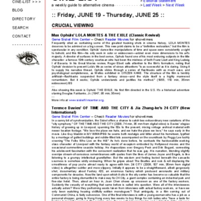 CINE-FILE- Cine-List Friday, JUNE 19 - Thursday, JUNE 25-2009.pdf