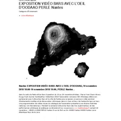 EXPOSITION VIDÉO BARS AVEC L'OEIL D'OOD...LE Nantes 10 novembre 2018 - Unidivers.pdf
